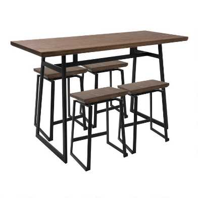 Metal and Wood Matthias Counter Height Dining Collection