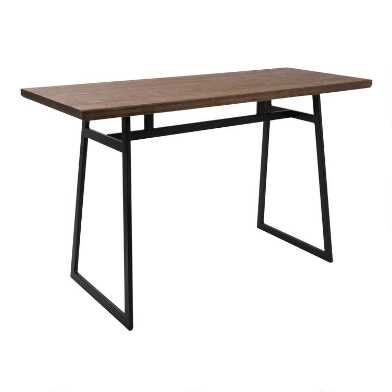 Metal and Wood Matthias Counter Height Dining Table
