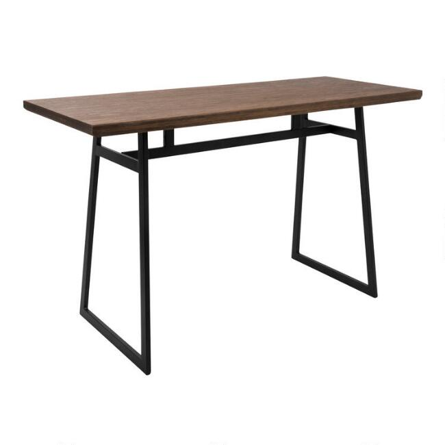 metal and wood matthias counter height dining table world market