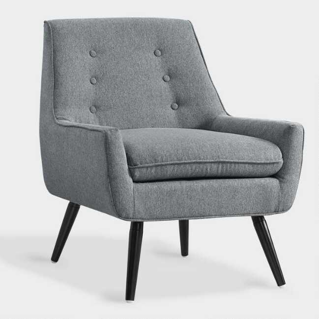Awe Inspiring Gray Flannel Brooks Upholstered Chair Unemploymentrelief Wooden Chair Designs For Living Room Unemploymentrelieforg
