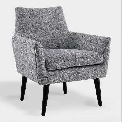Gray Tweed Thompson Upholstered Armchair