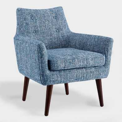 Blue Tweed Thompson Upholstered Armchair