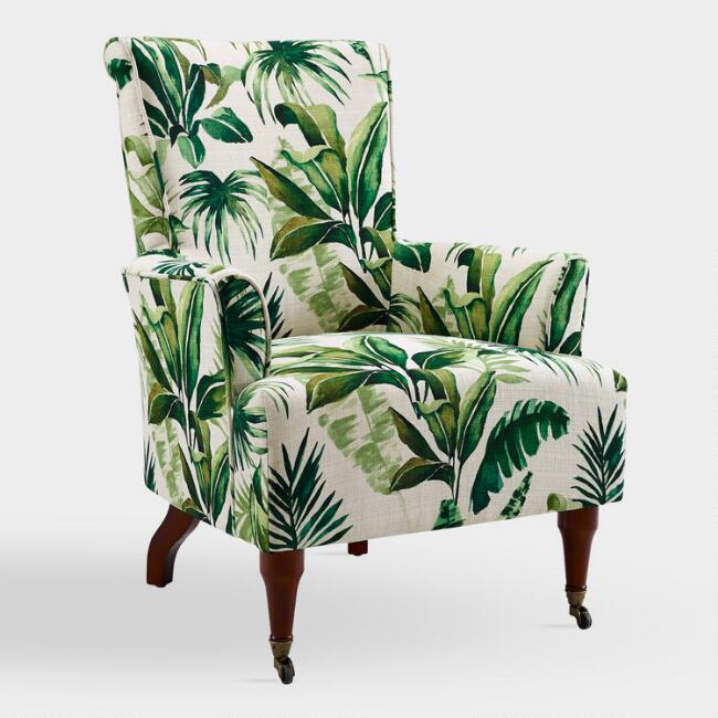 Palm Leaf Clares Upholstered Armchair