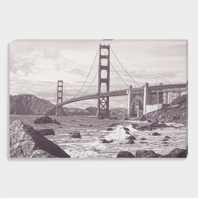 Golden Gate Bridge Sepia Wall Art