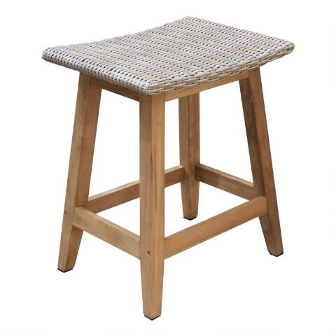 Brilliant Teak Wood Nash Outdoor Counter Height Stools Set Of 2 Pabps2019 Chair Design Images Pabps2019Com