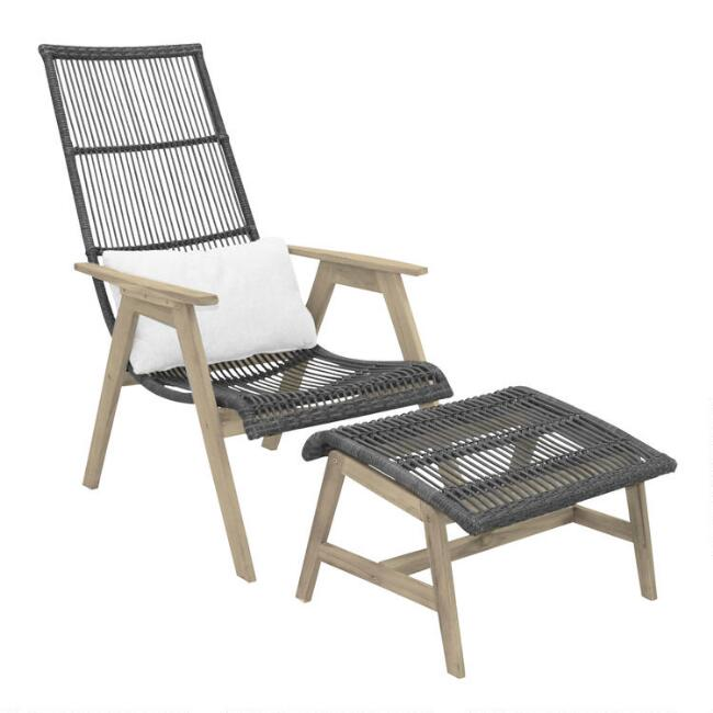 Gray All Weather and Teak Hakui Outdoor Seating Collection