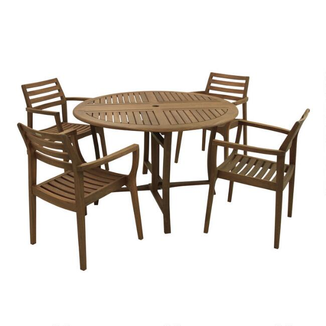Round Wood Danner Outdoor Dining Collection