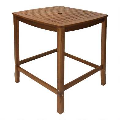 Square Wood Oreton Outdoor Pub Dining Table