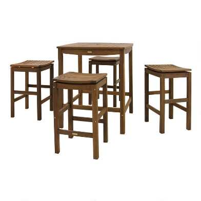 Square Wood Oreton Outdoor Pub Dining Collection