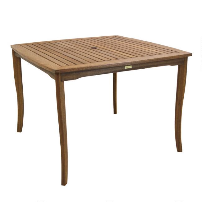 Square Eucalyptus Danner Outdoor Dining Table
