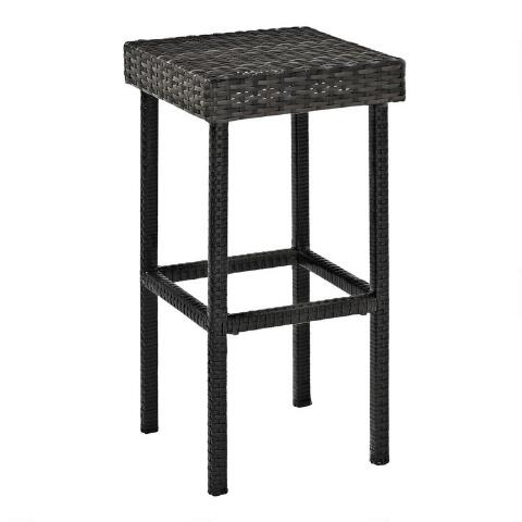 Awesome Gray All Weather Pinamar Outdoor Counter Stools Set Of 2 Gmtry Best Dining Table And Chair Ideas Images Gmtryco