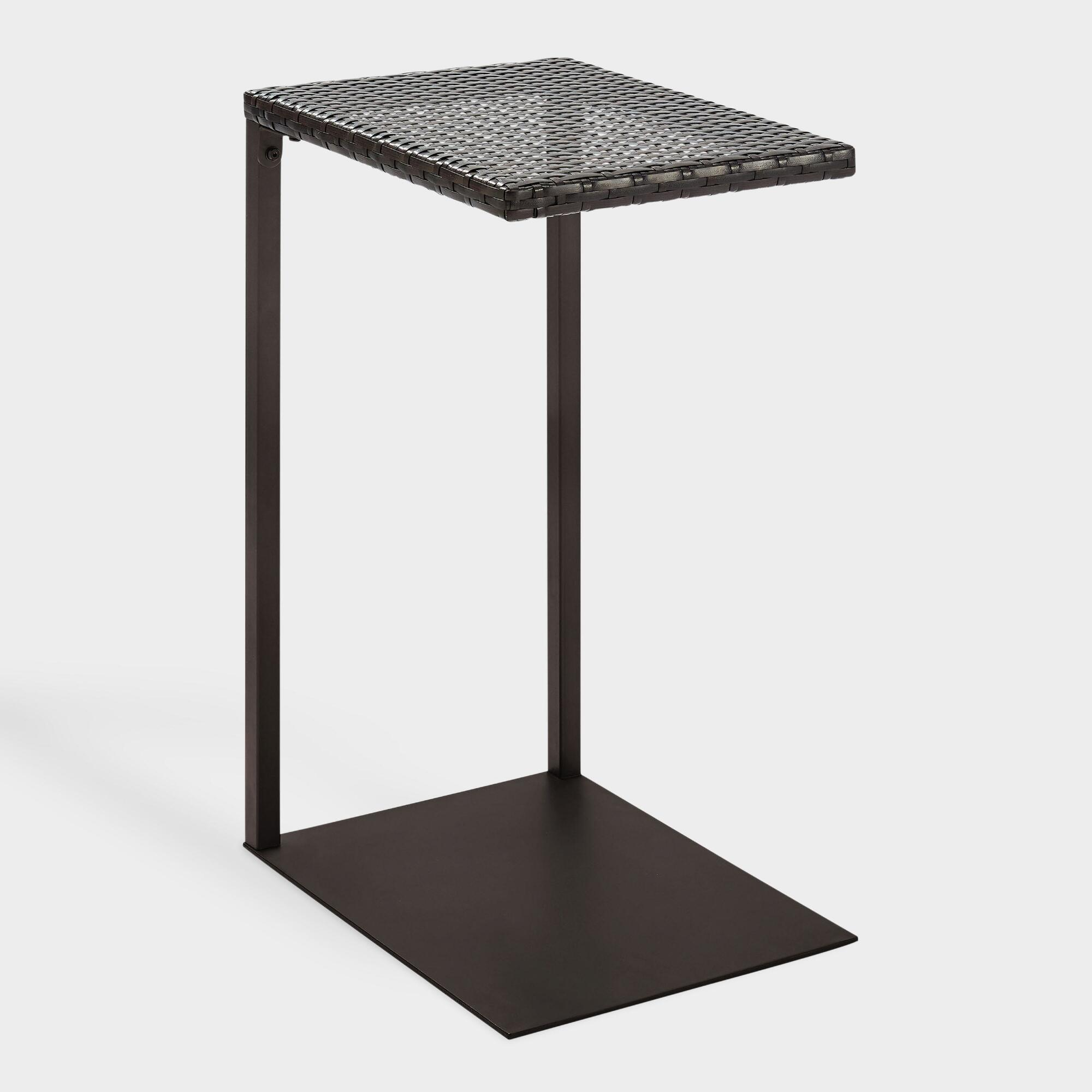 Espresso All Weather Wicker Pinamar Outdoor Patio Laptop Table by World Market