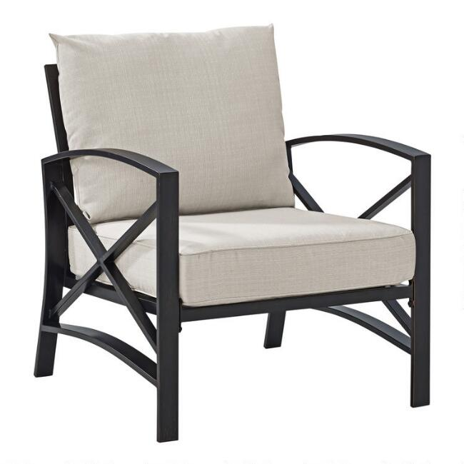 Bronze Metal Araceli Outdoor Occasional Armchair