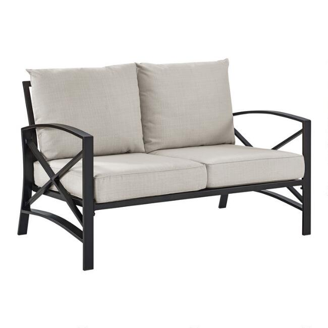 Bronze Metal Araceli Outdoor Occasional Loveseat