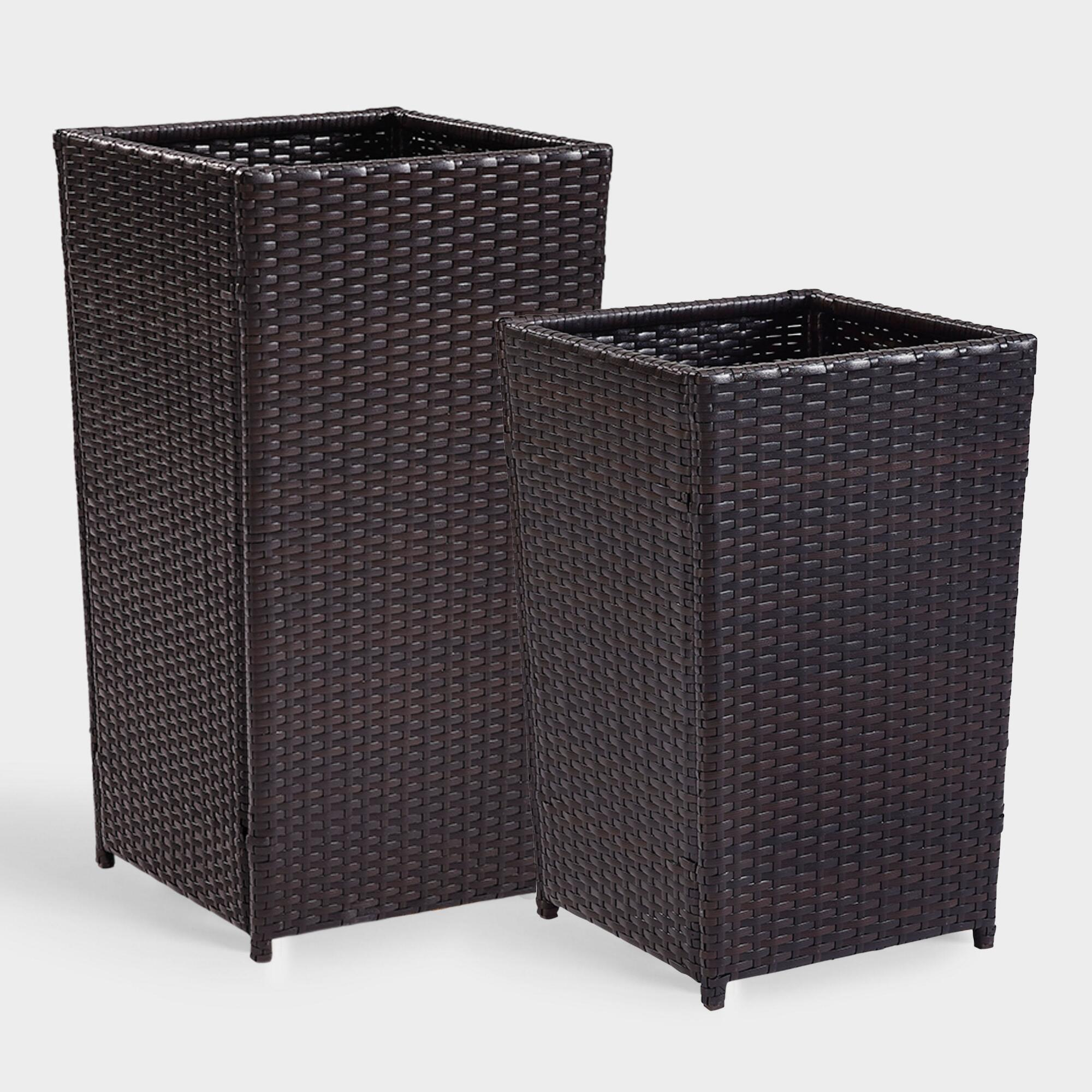 Espresso All Weather Pinamar Outdoor Patio Planter Collection by World Market