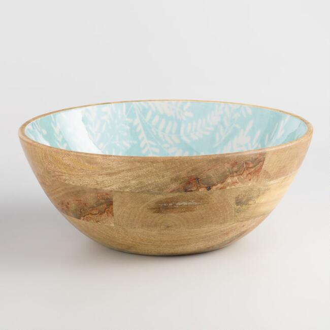 Large Light Blue Enamel Wood Yellowstone Bowl