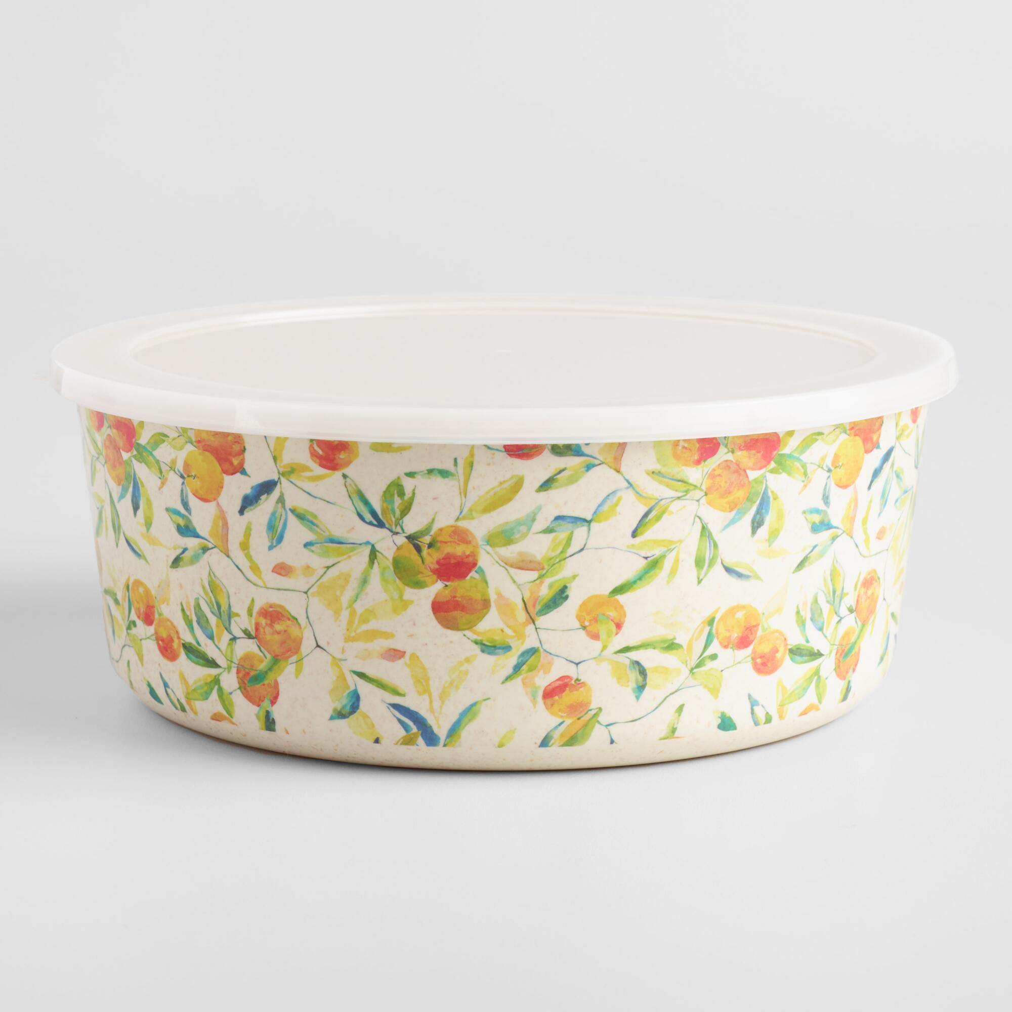 Large Citrus Fruits Bamboo Fiber Bowl by World Market