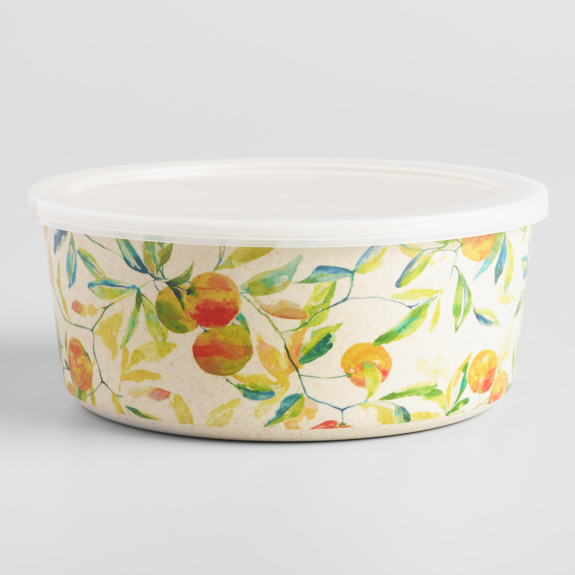 Citrus Fruits Grove Bamboo Fiber Bowl by World Market
