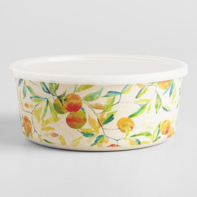 Citrus Fruits Grove Bamboo Fiber Bowl