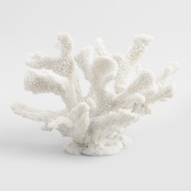 White Spiny Coral Decor