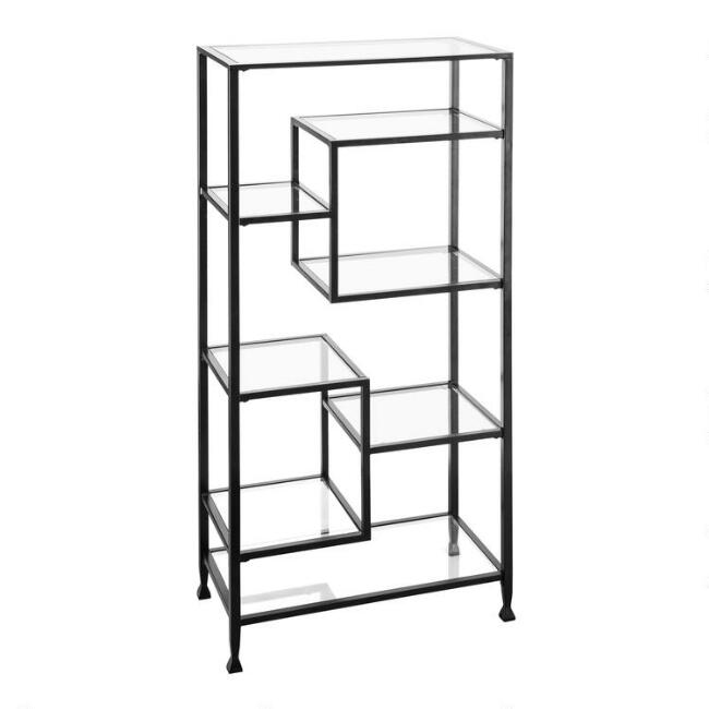 Black Metal And Glass Reiley Bookshelf