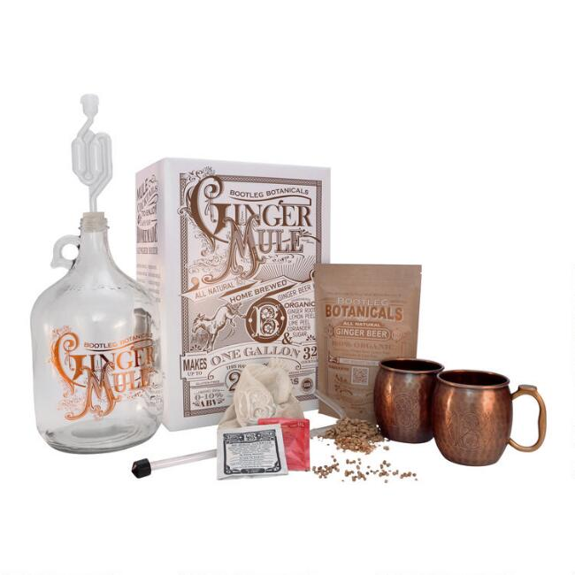 Bootleg Botanicals Ginger Beer Making Kit with Copper Mugs