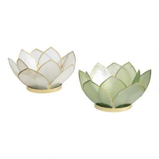 Candle holders pillars trays sconce world market 10 petal lotus capiz tealight candleholder mightylinksfo