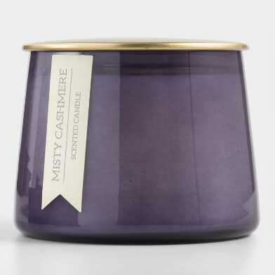 Small Misty Cashmere Gold Lid Glass Filled Jar Candle