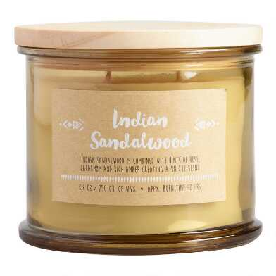 Indian Sandalwood Medallion Lid Scented Candle