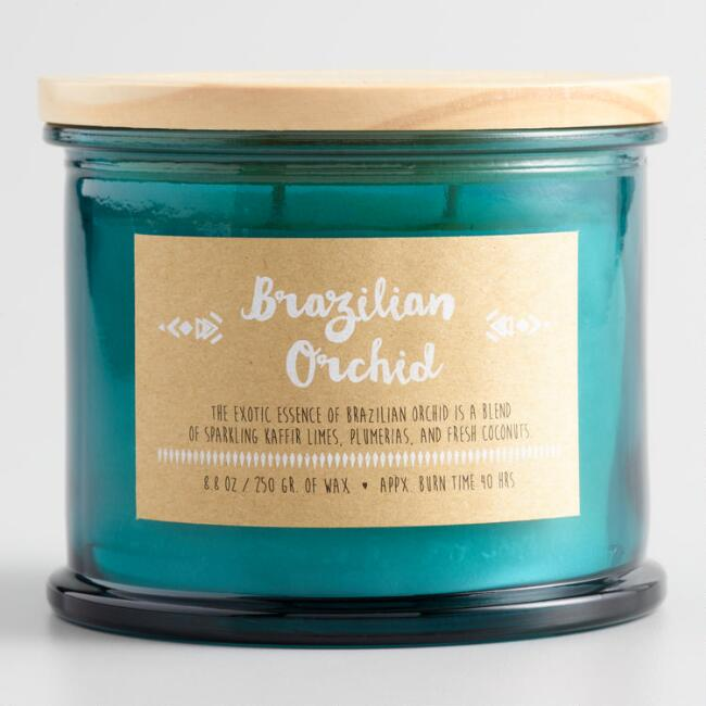 Brazilian Orchid Medallion Lid Scented Candle