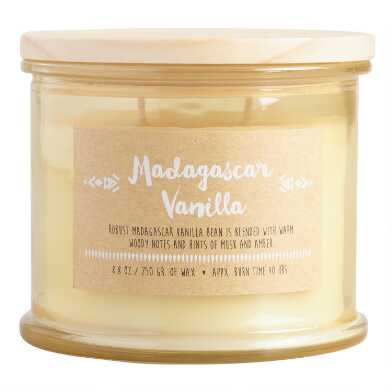 Madagascar Vanilla Medallion Stamped Lid Filled Jar Candle