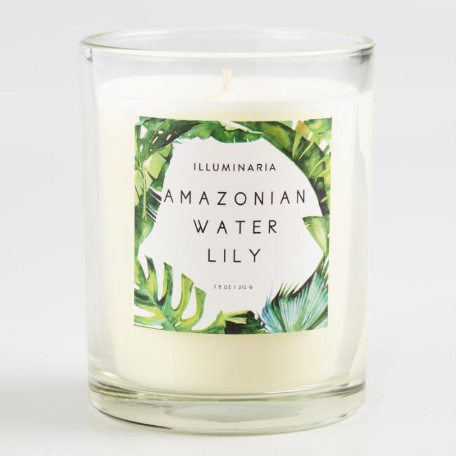 Amazonian Water Lily Tropical Filled Jar Candle