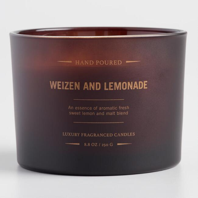 Weizen and Lemonade Dark Amber Filled Jar Candle