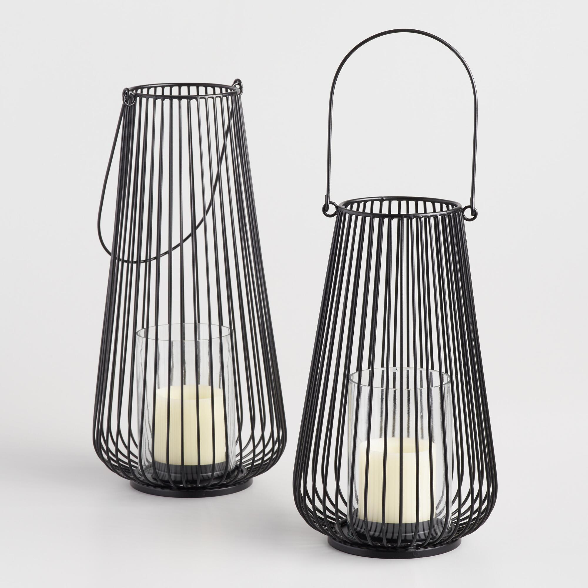 Black Metal Wire Lantern - Small by World Market Small