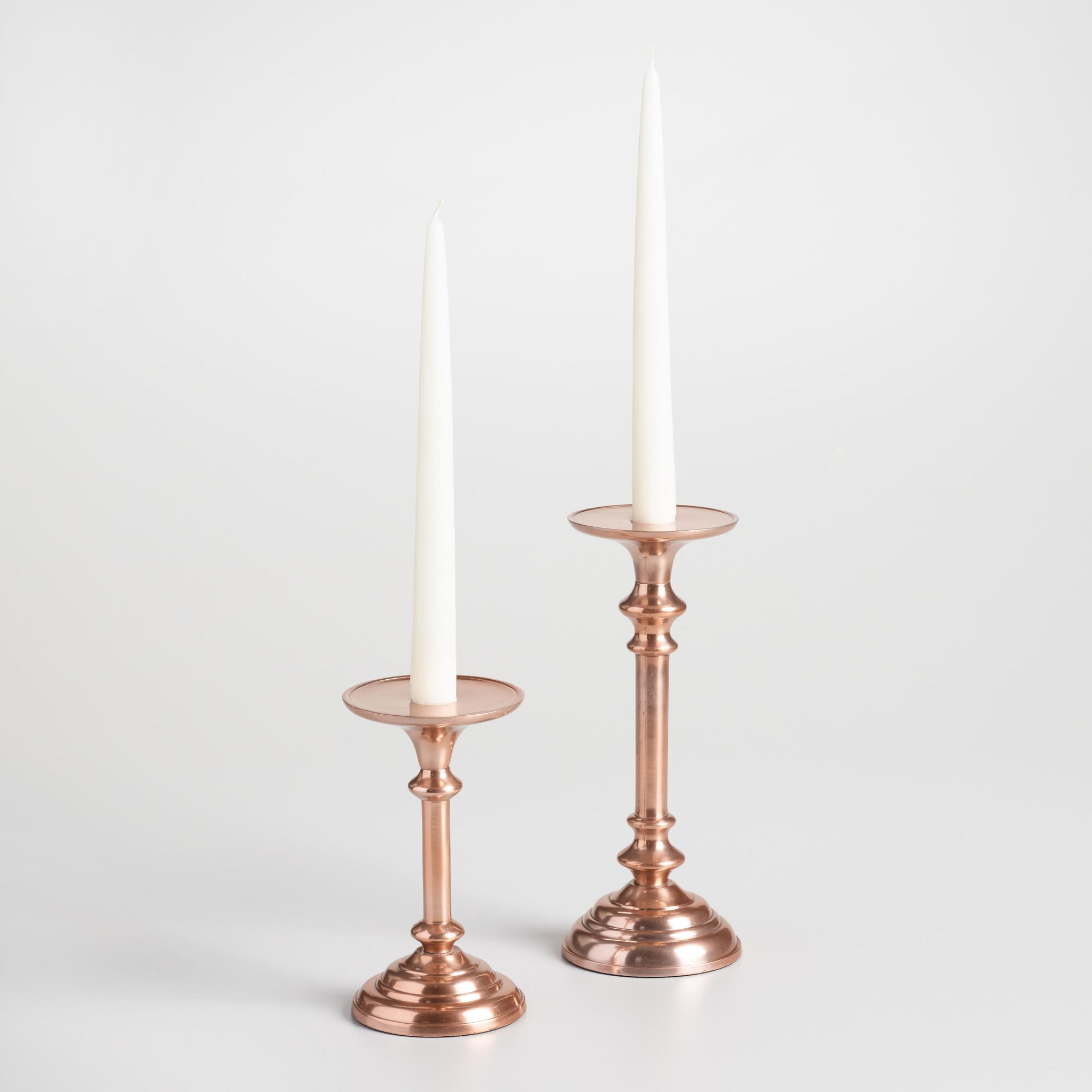 Copper Taper or Pillar Candleholder - Small by World Market Small