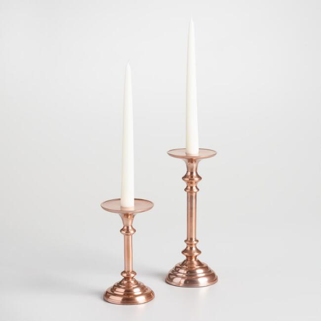 Copper Taper or Pillar Candleholder