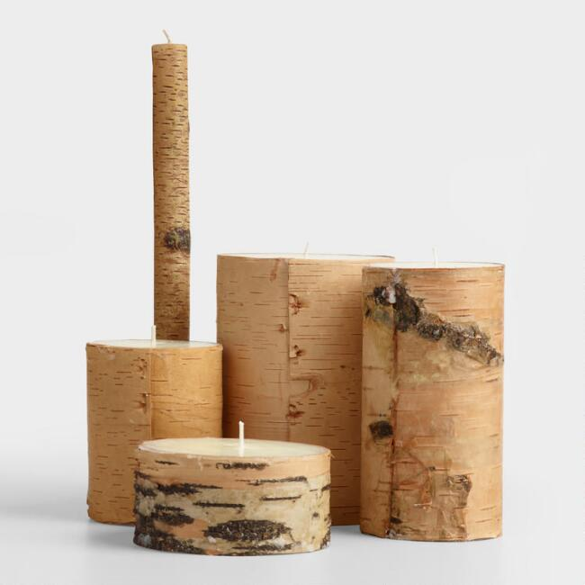 Natural Birch Bark Candle
