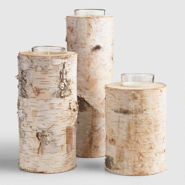 Birch Votive Candleholder