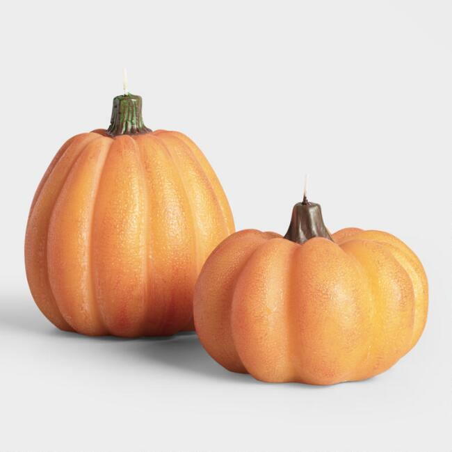 Orange Pumpkin Figure Candle