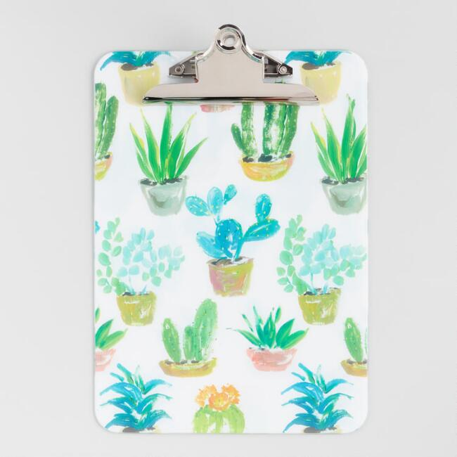 Cacti and Succulents Clipboard