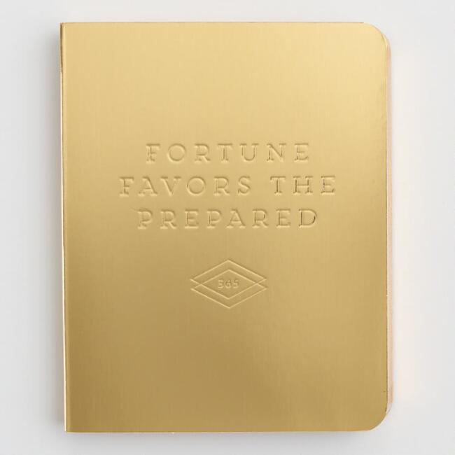 Gold Fortune Favors The Prepared Pocket Planner