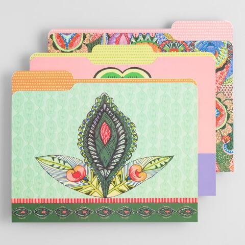 afb5bf3bc Multicolored Global Mod File Folders Set of 6 | World Market