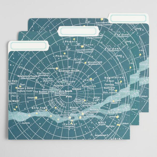 Celestial File Folders Set of 12