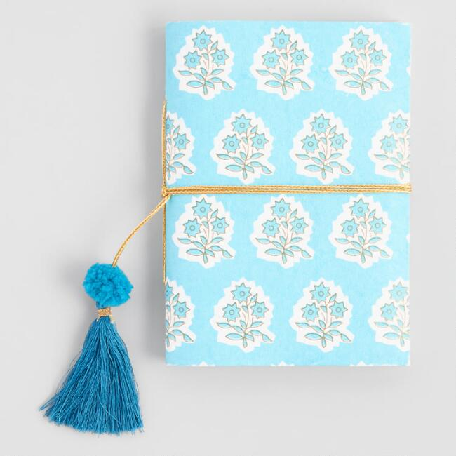 Light Blue Flower Handmade Journal