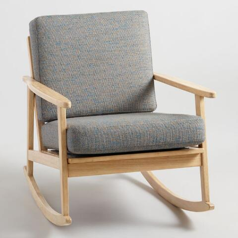 Strange Gray Flecked Xander Rocking Chair Pabps2019 Chair Design Images Pabps2019Com