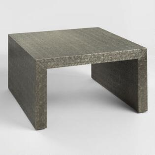 Coffee tables end tables accent tables world market square embossed metal sheena coffee table watchthetrailerfo