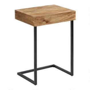 Coffee tables end tables accent tables world market wood alec laptop table with shelf watchthetrailerfo