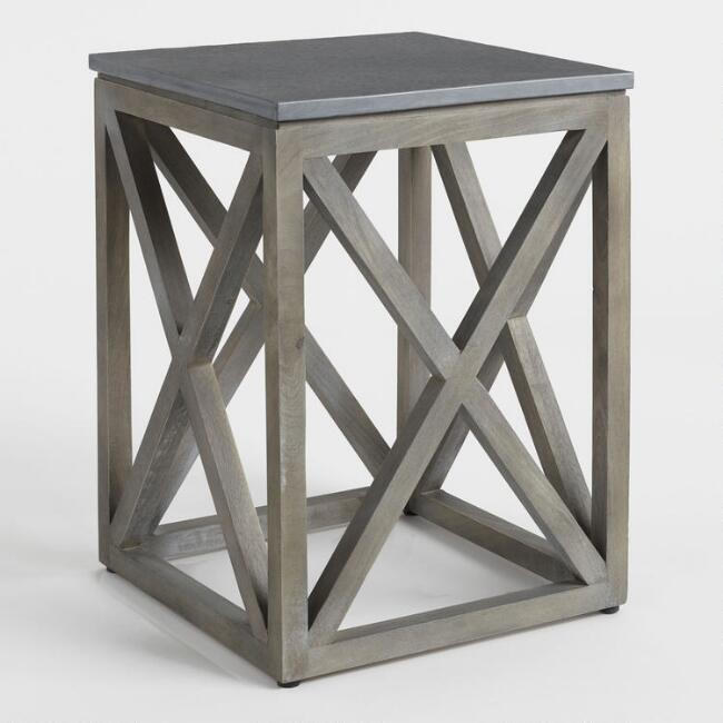 Gray Slate Farmhouse Accent Table