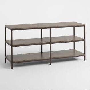 Graywash Wood And Metal Keenan Shelf