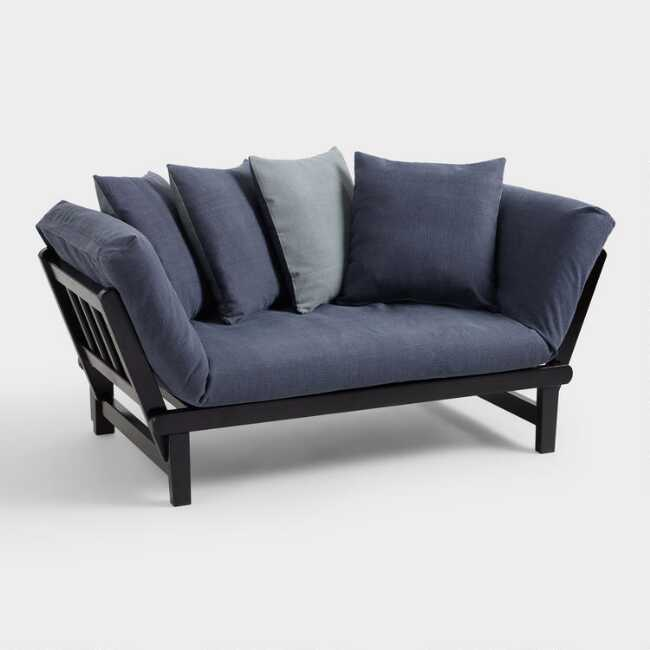 Fine Blue And Gray Studio Day Sofa Slipcover Caraccident5 Cool Chair Designs And Ideas Caraccident5Info